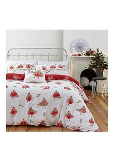 catherine-lansfield-robins-christmas-duvet-cover-set