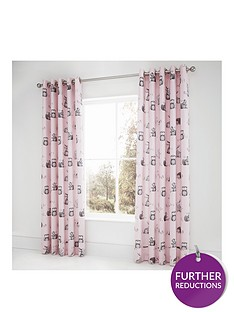 catherine-lansfield-woodland-friends-easy-care-eyelet-curtains