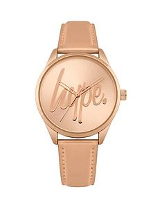 hype-rose-gold-logo-dial-rose-gold-pu-strap-watch