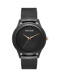 police-police-salerno-black-and-rose-gold-detail-dial-black-stainless-steel-mesh-strap-mens-watch