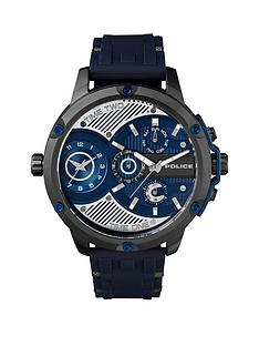 police-police-leader-blue-and-stainless-steel-chronograph-dial-stainless-steel-and-blue-silicone-strap-mens-watch