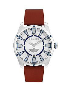 police-police-fairhaven-silver-and-blue-detail-brown-leather-strap-mens-watch