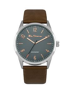 ben-sherman-ben-sherman-grey-and-rose-gold-detail-dial-brown-leather-strap-mens-watch