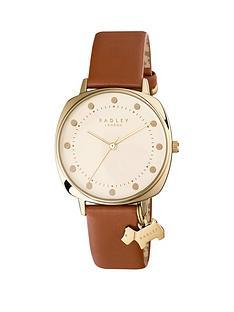 radley-radley-cream-and-gold-dog-charm-dial-brown-leather-strap-ladies-watch