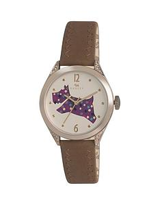 radley-radley-the-great-outdoors-purple-spotty-dog-dial-brown-leather-strap-ladies-watch