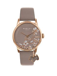radley-radley-taupe-floral-and-rose-gold-dog-charm-dial-taupe-leather-strap-ladies-watch