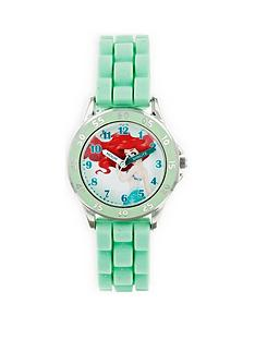 disney-princess-little-mermaid-ariel-printed-time-teller-dial-green-silicone-strap-kids-watch