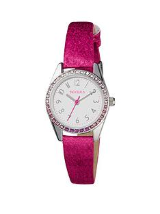 tikkers-tikkers-white-and-pink-jewelled-dial-pink-glitter-leather-strap-kids-watch