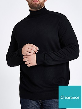 river-island-big-and-tall-roll-neck