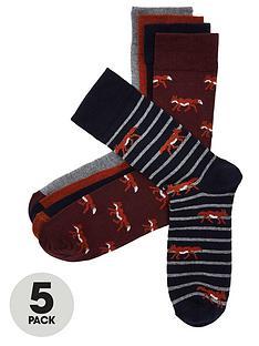 river-island-fox-5pk-socks