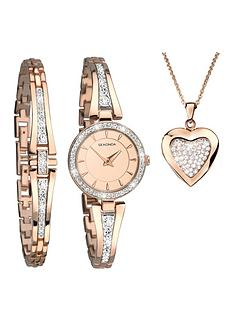 sekonda-sekonda-rose-gold-and-crystal-set-dial-rose-gold-crystal-set-half-bangle-ladies-watch-with-matching-bracelet-ad-heart-locket-necklace-gift-set