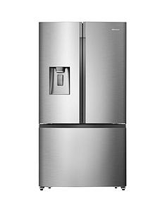 hisense-rf702n4is1-91cm-widenbsptotal-no-frost-french-door-food-centre-fridge-freezer--nbsppremium-stainless-steel-effect