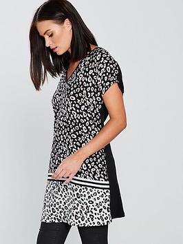 v-by-very-leopardnbspprint-longline-top-blackwhite