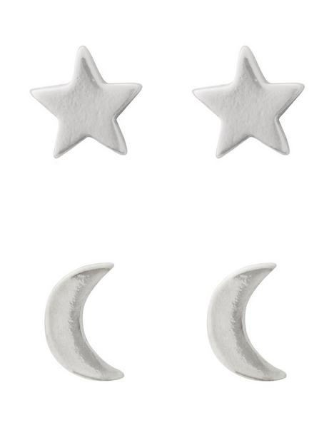the-love-silver-collection-sterling-silver-moon-stars-stud-earrings-2-pack-set