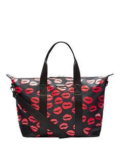 Lulu Guinness Lip Blot Soft Overnight Bag