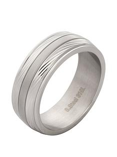 prod1088039051: IP Silver & Stainless Steel Mens Ring