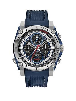 bulova-bulova-precisionist-black-blue-and-red-detail-chronograph-dial-blue-textured-silicone-strap-mens-watch