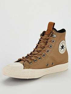 a1cc82014413 Converse Chuck Taylor All Star Leather Hi Top Plimsolls