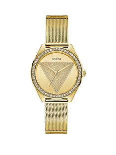 guess-guess-tri-glitz-champagne-glitz-logo-gold-crystal-set-dial-gold-mesh-stainless-steel-strap-ladies-watch
