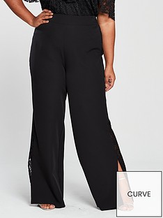 v-by-very-curve-lace-trim-wide-leg-trouser-black