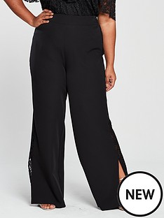v-by-very-curve-lace-trim-wide-leg-trouser-black