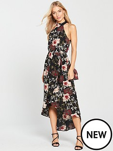 ax-paris-floral-print-high-low-hem-dress
