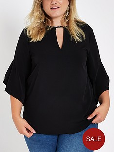ri-plus-woven-top-black