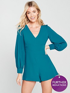 river-island-long-sleeve-playsuit-teal