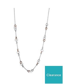links-of-london-links-of-london-aurora-sterling-silver-amp-18ct-rose-gold-vermeil-link-necklace