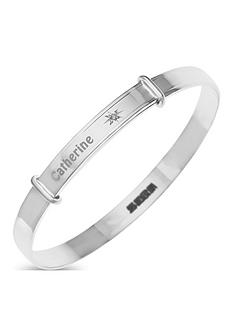 the-love-silver-collection-sterling-silver-diamond-set-childrens-personalised-expander-bangle