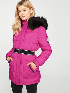 V by Very Petite Colour Pop Padded Coat - Pink 6c5883997