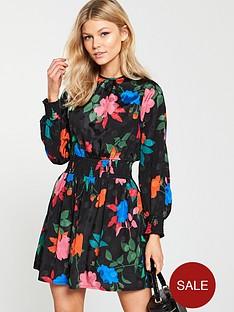 v-by-very-petite-jacquard-tea-dress-floral