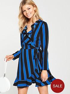 v-by-very-petite-stripe-wrap-dress-blue-stripe