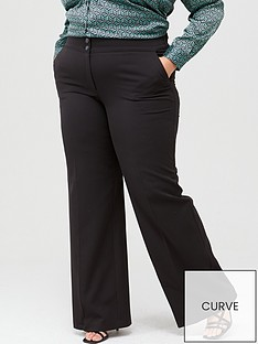 v-by-very-curve-valuenbspwide-leg-trouser-black
