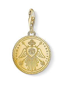 thomas-sabo-thomas-sabo-charm-club-gold-plated-round-disc-charm