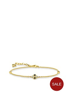 thomas-sabo-gold-plated-cubic-zirconia-bracelet