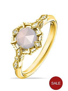 thomas-sabo-gold-plated-gemstone-solitaire-ring