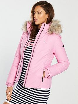 d5c244b2 Tommy Jeans Hooded Down Jacket - Lilac Chiffon | littlewoodsireland.ie