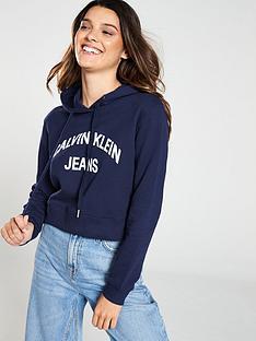 calvin-klein-jeans-institutional-logo-copped-hoodienbsp--peacoatnbsp
