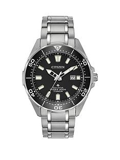 citizen-eco-drive-promaster-dive-black-dial-titanium-bracelet-mens-watch