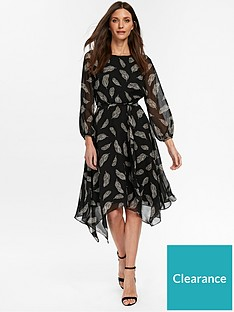 ceabd7a40ec Wallis Feather Dress - Black