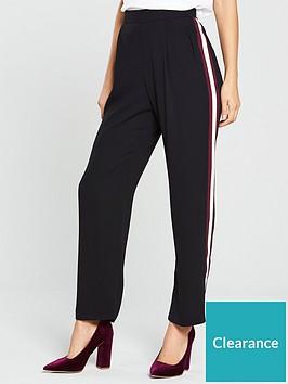 wallis-side-stripe-tailored-trouser-blacknbsp