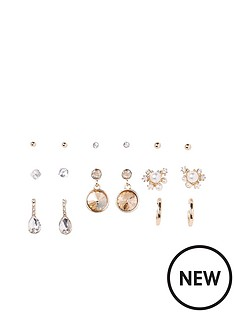 river-island-embellished-earring-multi-pack-gold-tone