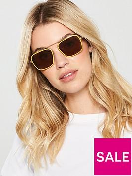 calvin-klein-square-brow-bar-maize-sunglasses