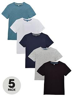 v-by-very-boys-5-pack-t-shirts-blues-multi