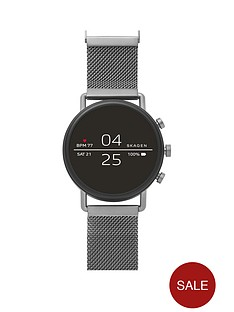 skagen-skagen-full-dipslay-gunmetal-stainless-steel-mesh-strap-ladies-smart-watch