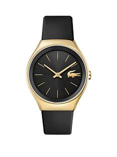lacoste-lacoste-valencia-black-and-gold-dial-black-leather-strap-ladies-watch
