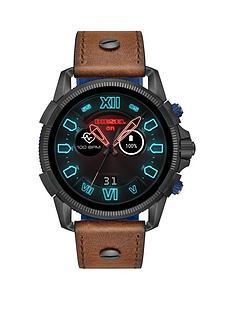 diesel-diesel-full-guard-25-display-brown-leather-strap-mens-smart-watch
