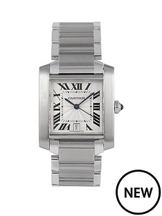 cartier-cartier-pre-owned-tank-francaise-automatic-off-white-dial-stainless-steel-bracelet-mens-watch-2302
