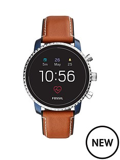 fossil-fossil-q-explorist-gen-4-full-display-with-blue-ip-and-brown-leather-strap-mens-smartwatch